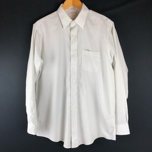 Brooks Brothers White Stripe Traditional Fit Shirt